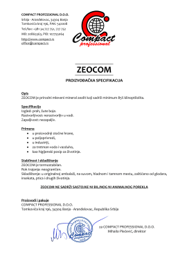 ZEOCOM - zeolit-klinoptilolit