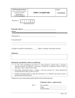 Zahtev za ispitivanje