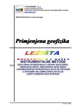 instrumentalne metode geoloških istraživanja u okviru