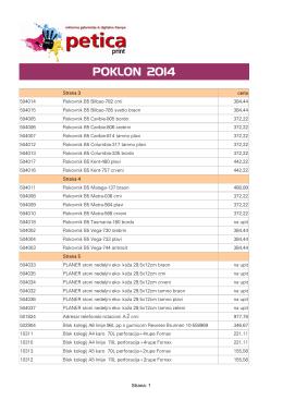 POKLON 2013-cenovnik