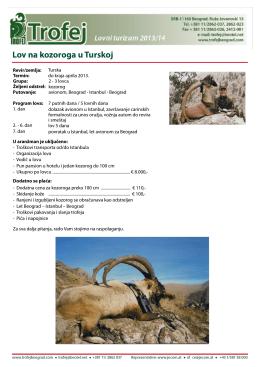 Lov na kozoroga u Turskoj