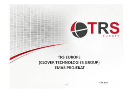 TRS EUROPE (CLOVER TECHNOLOGIES GROUP) EMAS