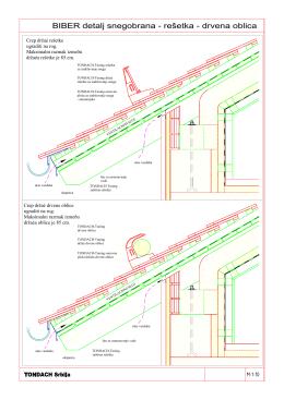 BIBER PLUS detalj snegobrana - resetka - drvena oblica