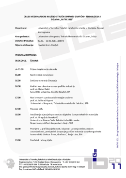 GeTID 2011 - Univerzitet u Travniku