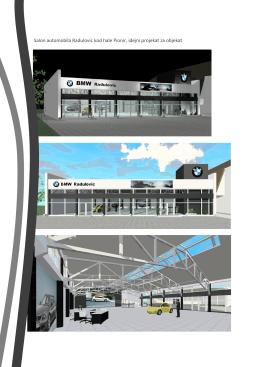 Salon automobila Radulovic kod hale Pionir, idejni projekat