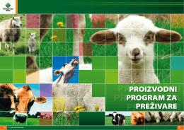 proizvodni program za preživare