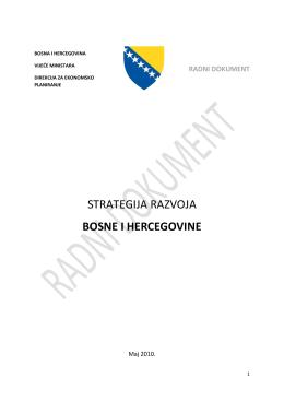 strategija razvoja bosne i hercegovine