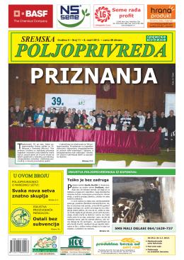 Sremska poljoprivreda broj 11 8. mart 2013.