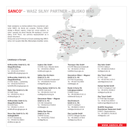 Wykaz adresów partnerów SANCO