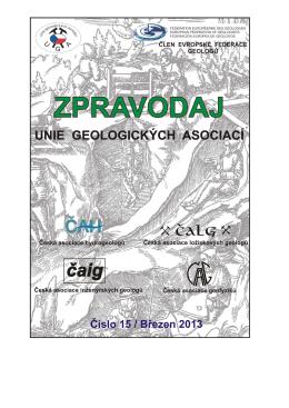 březen 2013 - Česká asociace ložiskových geologů