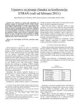 Adobe PDF, srpski - etran - Elektrotehnički fakultet