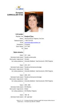 mr Žana Knežević - Fakultet za informacione tehnologije