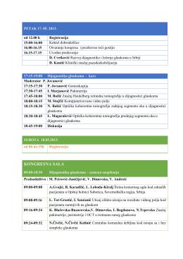 KONGRESNA SALA - Udruženje glaukomatologa Srbije