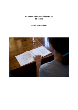 zápis z jednání (pdf) - Metropolitní ozvučná deska