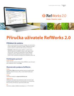 Příručka uživatele RefWorks 2.0