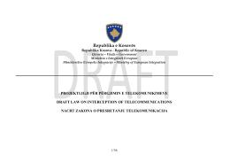 projektligji për përgjimin e telekomunikimeve