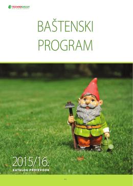 Baštenski program - katalog proizvoda za 2015. godinu.
