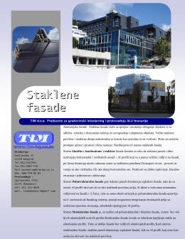 Staklene fasade - Inženjering u građevinarstvu i proizvodnja AL