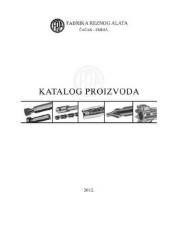 Katalog proizvoda - Fabrika reznog alata Čačak