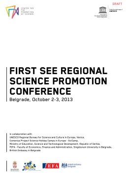 first see regional science promotion conference