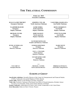 Trilateral Commission Membership List