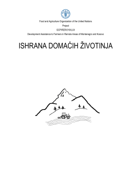 ishrana domaćih životinja - Development Assistance to Farmers In
