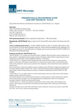 Prezentacija za javna preduzeća - HLB DST