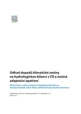 Odhad dopadu klimatické změny na hydrologickou bilanci v ČR a