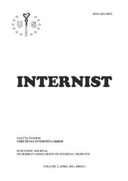 internist 1 - 2011. - Udruženje Internista Srbije