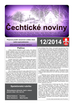 čtěte zde - Základní škola Čechtice, okres Benešov
