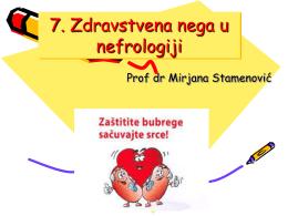 7. Zdravstvena nega u nefrologiji