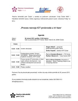 """""""Proces razvoja ICT proizvoda u tri faze"""""""