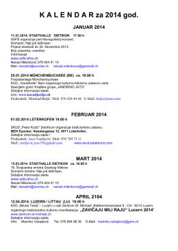 Kalendar PDF