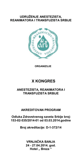Program X Kongresa
