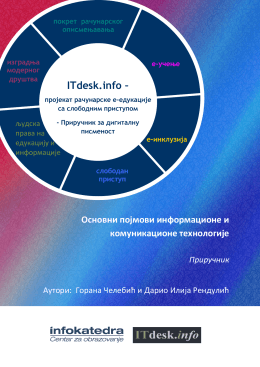 Основни појмови информационе и комуникационе