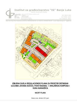 izmjena dijela regulacionog plana za prostor
