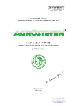 "Primena bioregulatora ""Agrostemin"""