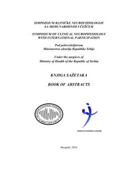 Knjiga sažetaka - Udruženje za kliničku neurofiziologiju Srbije