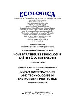 nove strategije i tehnologije zaštite životne sredine