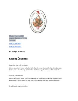 Katalog Čokolada: - Le Nougat de Savoie
