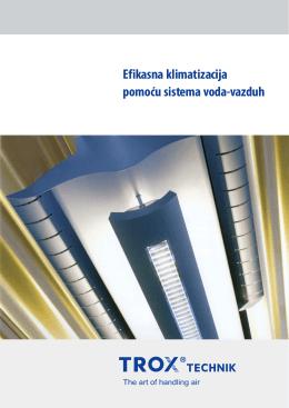 Efikasna klimatizacija pomoću sistema voda-vazduh