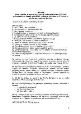 zapisnik sa 23.redovne sednice skupstine 09.05.2012.