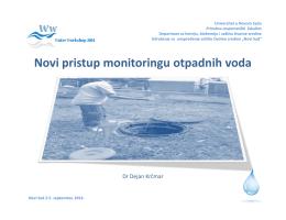Novi pristup monitoringu otpadnih voda, dr Dejan
