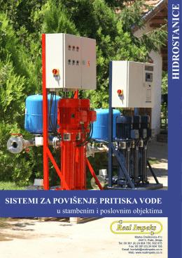 Sistemi za povišenje pritiska vode
