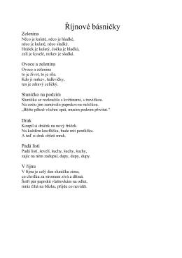 Říjnové básničky