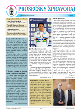 Prosečský zpravodaj 9/2014