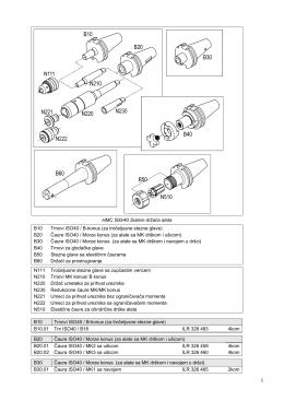 HMC 500/40 Sistem držača alata B10 Trnovi ISO40 / B