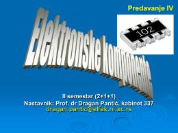 Otpornici 2 (prof. D. Pantić)