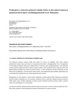 VOP/AGBs vytisknout ve formátu PDF