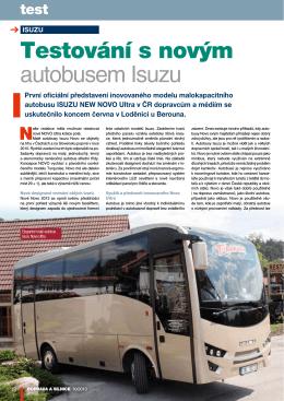 Testování s novým autobusem Isuzu